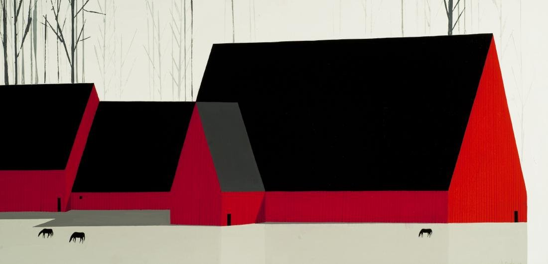 THE GREAT RED BARN by Eyvind Earle