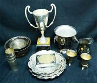 21 Pcs Silver Plated Trophies, Gorham