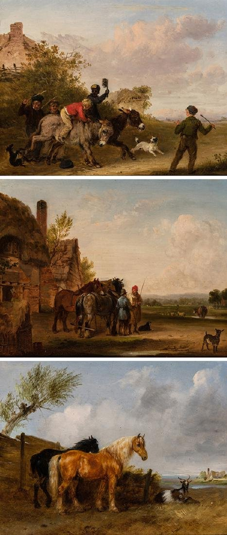Edmund Bristow - Peasants and Horses, Set of 3