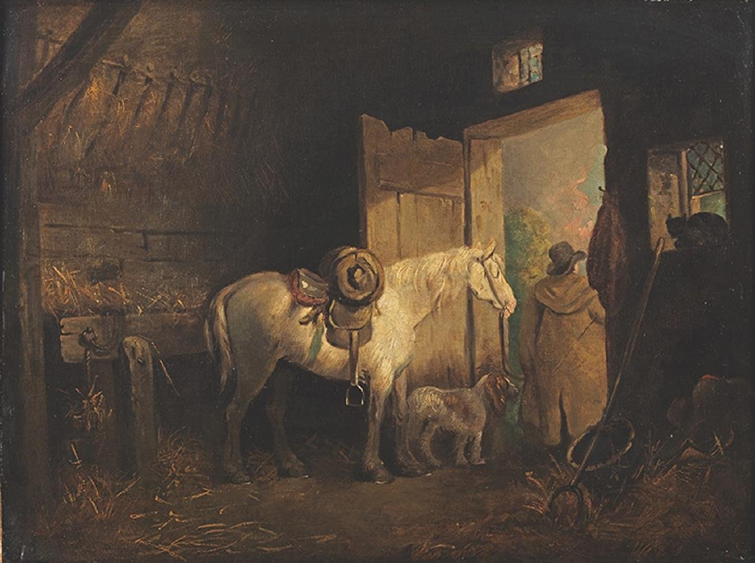 George Moreland - A Stable Interior