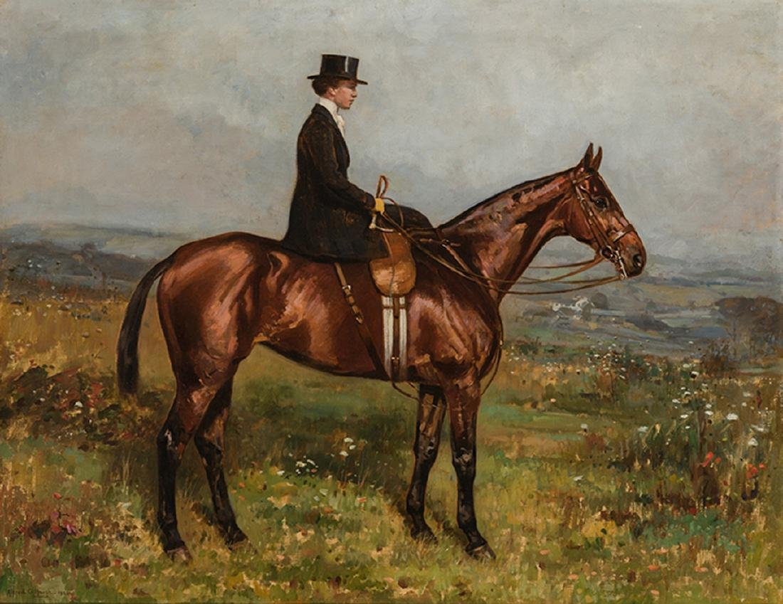 Alfred Haigh - Huntswoman Riding Sidesaddle