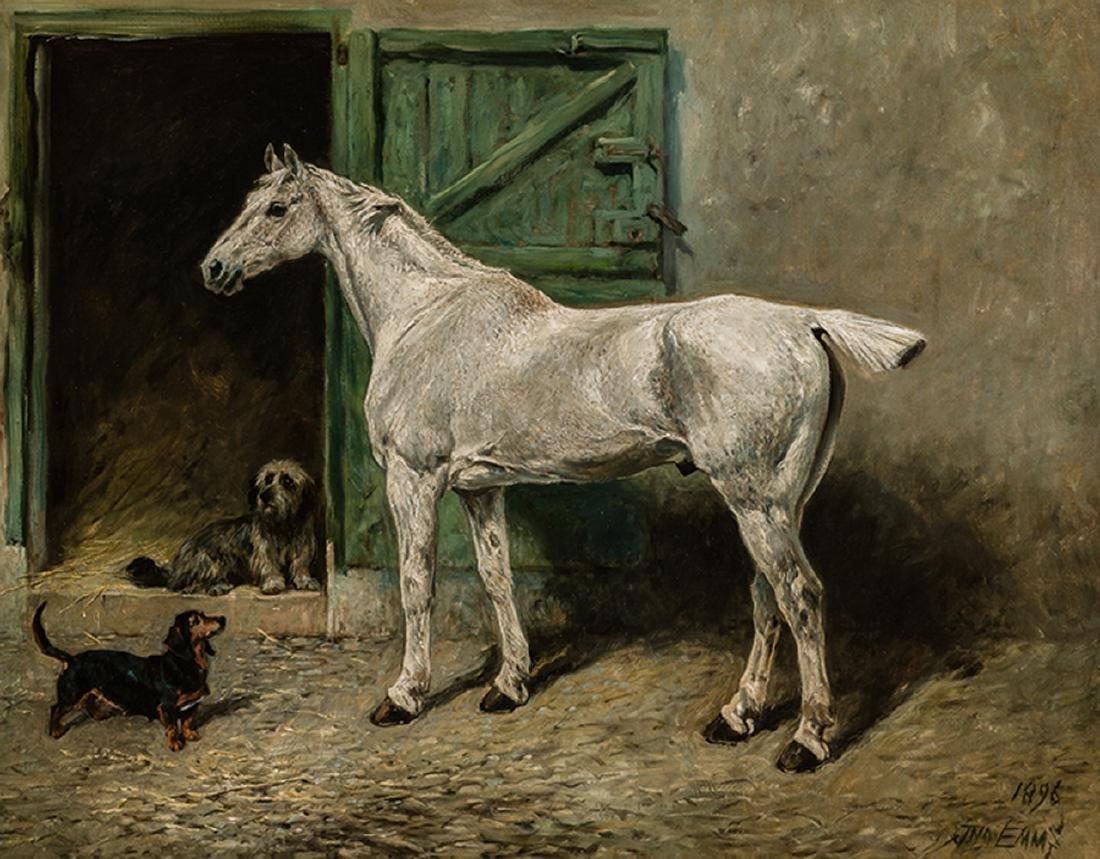 John Emms - Portrait of a Grey Cob