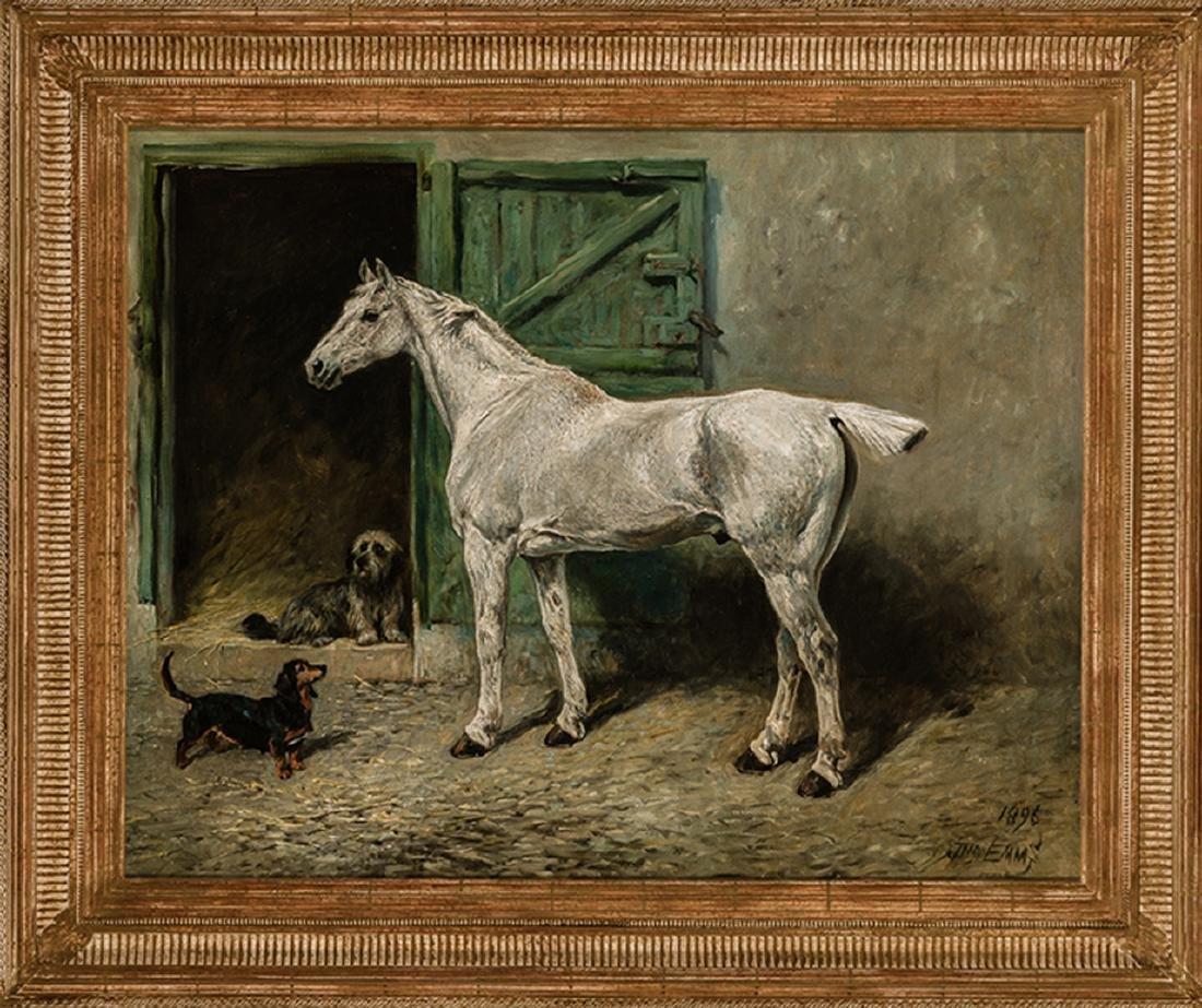 John Emms - Portrait of a Grey Cob - 2