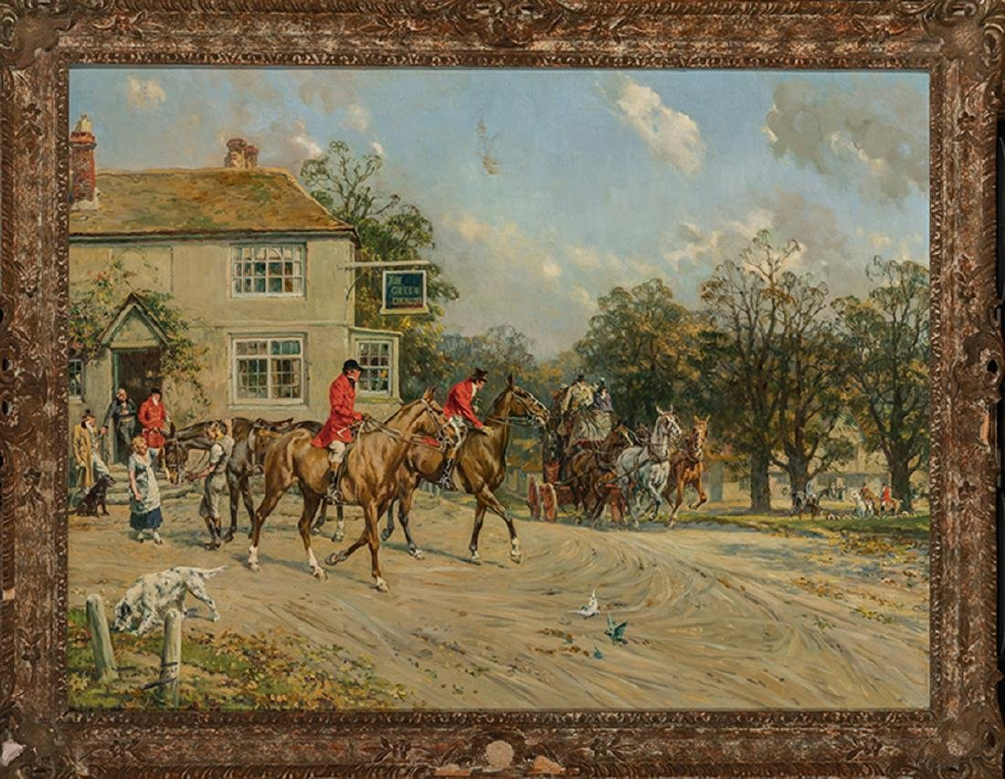 Gilbert Scott Wright - Huntsmen Meeting at the Green - 2