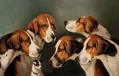 Wheeler, John Alfred - Hounds and a Terrier