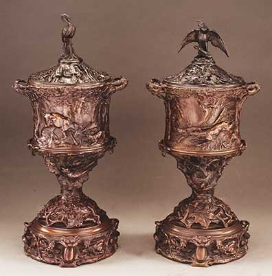 Mene, Pierre-Jules - Hunting Urns (pair)