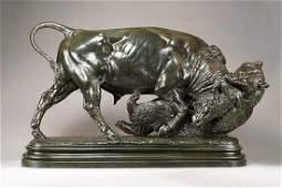 Bonheur, Isidore Jules - Un Taureau et un Ours (Bull...