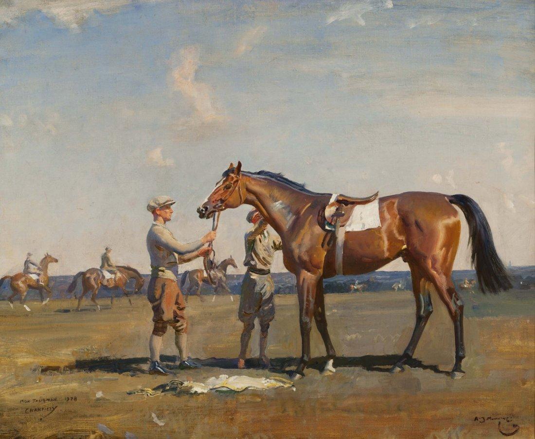 Sir Alfred James Munnings - MON TALISMAN, CHANTILLY,