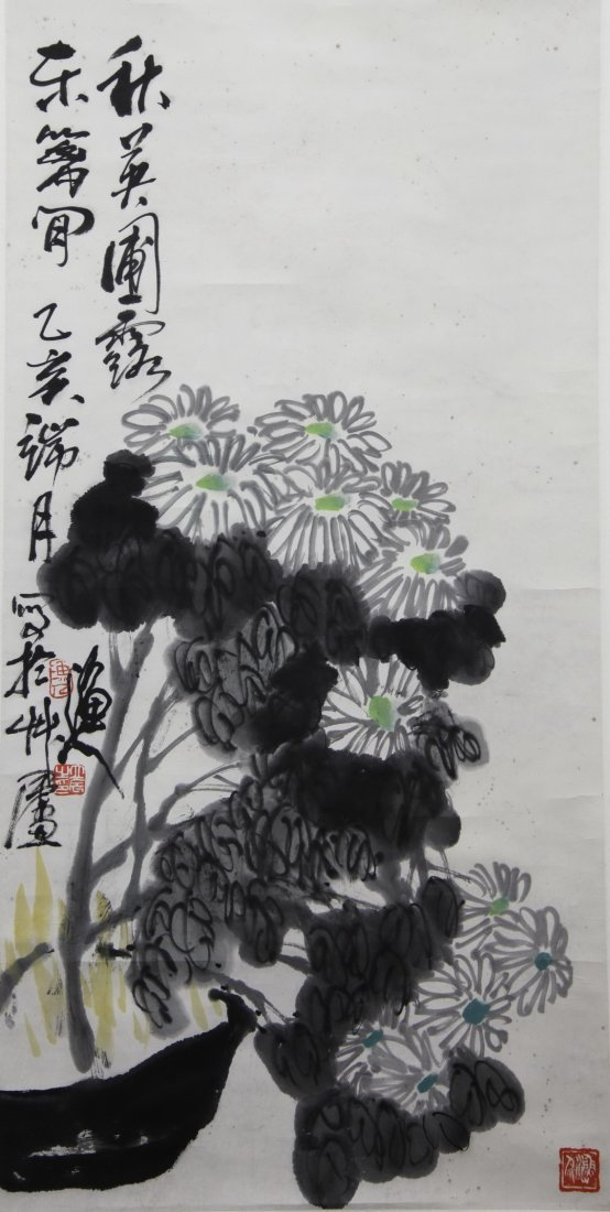A Chinese 'Flowers' Painting