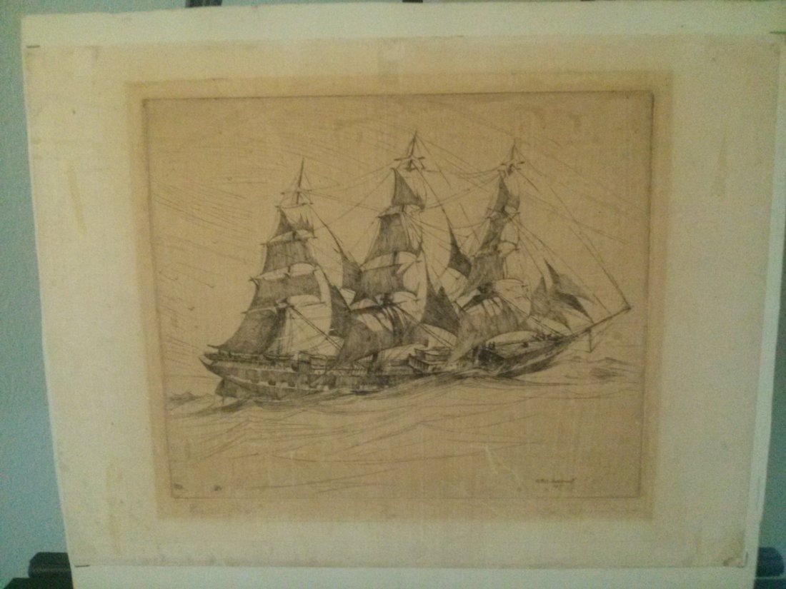 """Arthur Beaumont  """"Fourteen Knox"""" Signed/ No. Etching"""