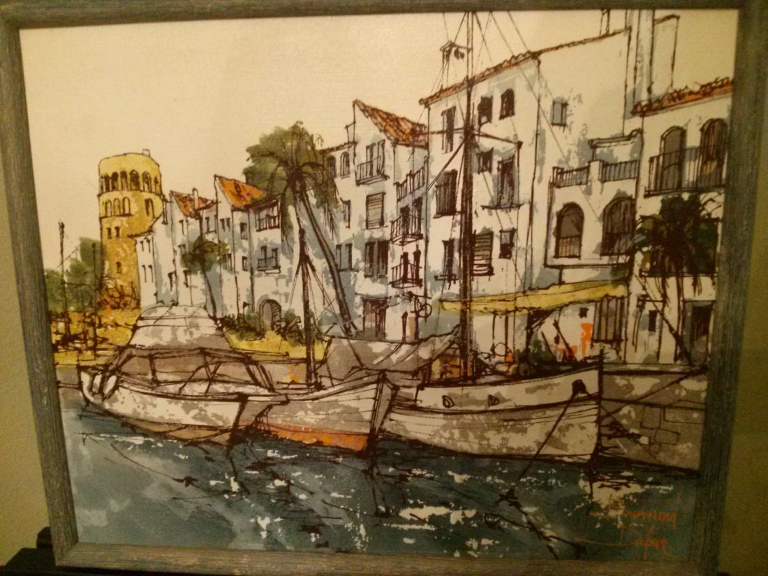 Bernard Dufour signed / framed Painting