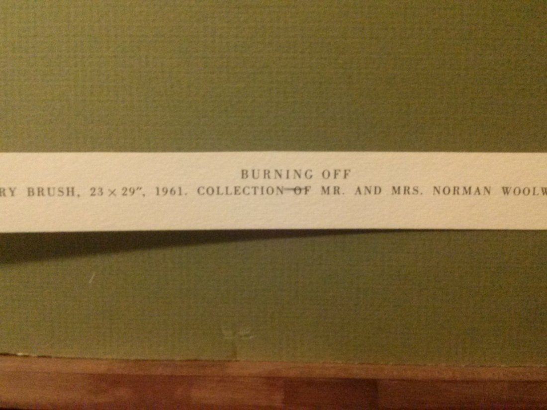 "Andrew Wyeth ""Burning Off"" - 6"