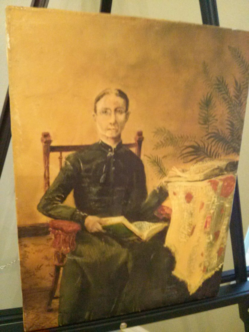 Original Oil Painting of Alice Perry signed by E