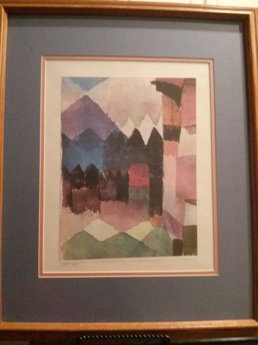 Paul Klee Lithograph, Signed in Plate