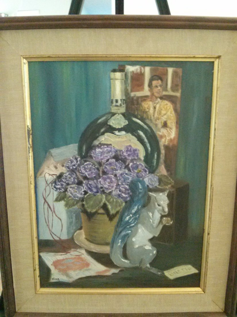 Ming Oil Painting, signed/ dated 1967