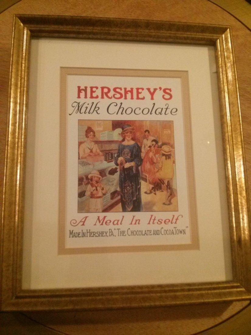 Vintage Hershey\'s Milk Chocolate Advertisement