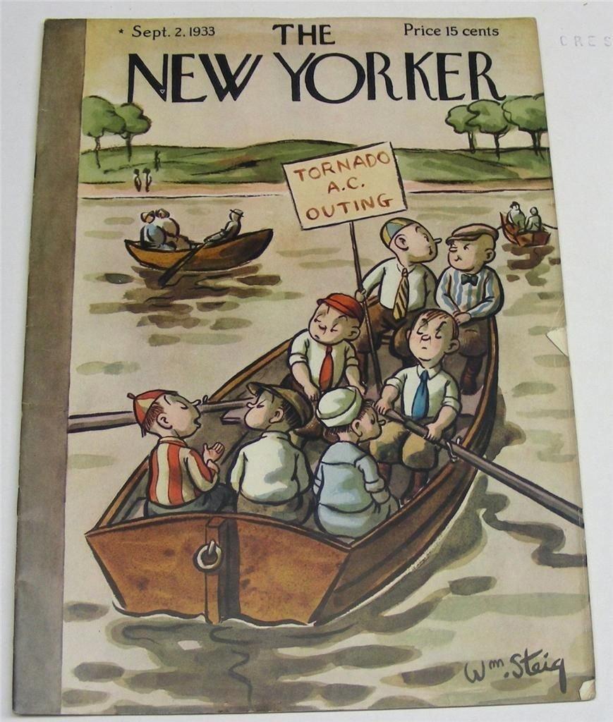New Yorker Magazine Sept 2,1933 Wm. Steig Cover -