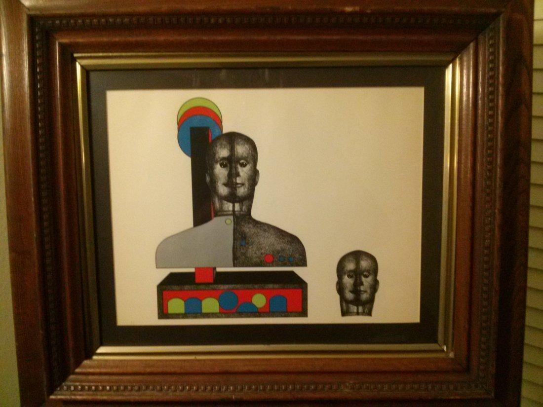 "Paul Van Hoeydonck Serigraph 'Oscar the Robot"""