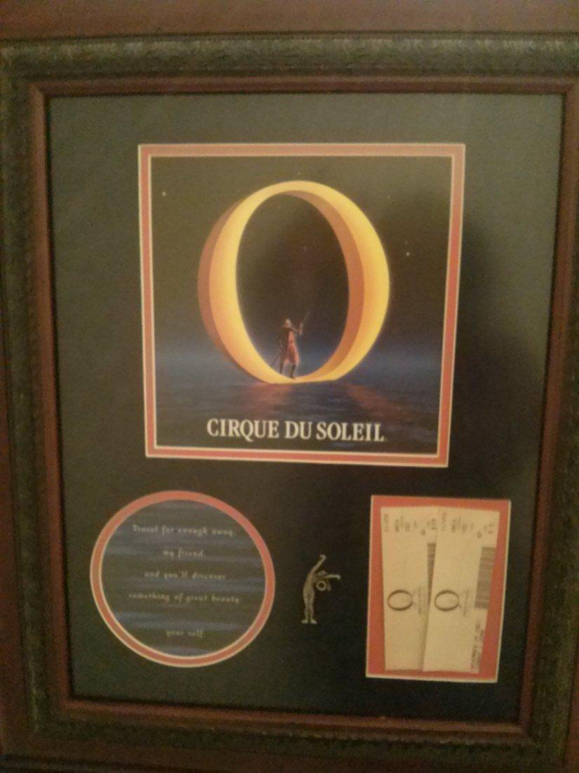 Cirque Du Soleil `O` Show Memorabilia Framed
