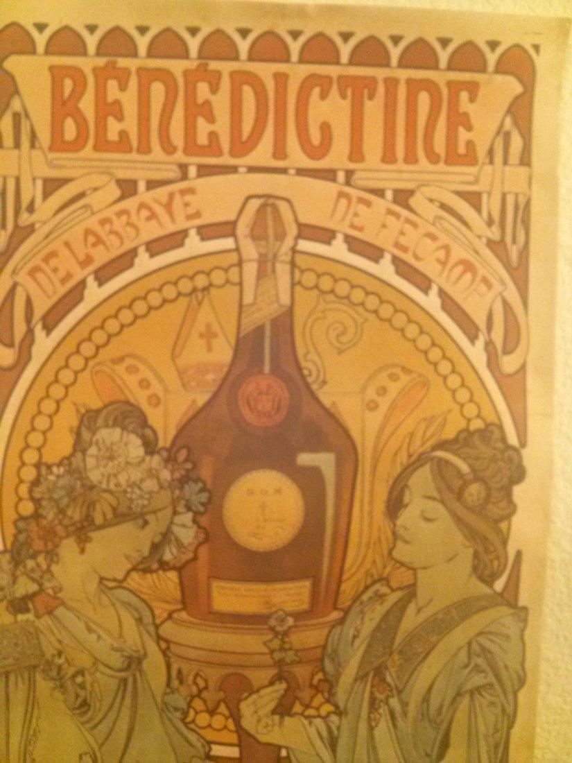 Vintage Litho. Benedictine liquor Ad by Alphonse Mucha