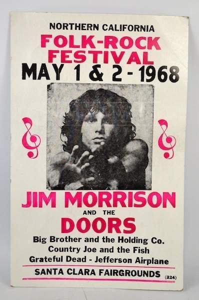 The Doors 1968 Festival Poster