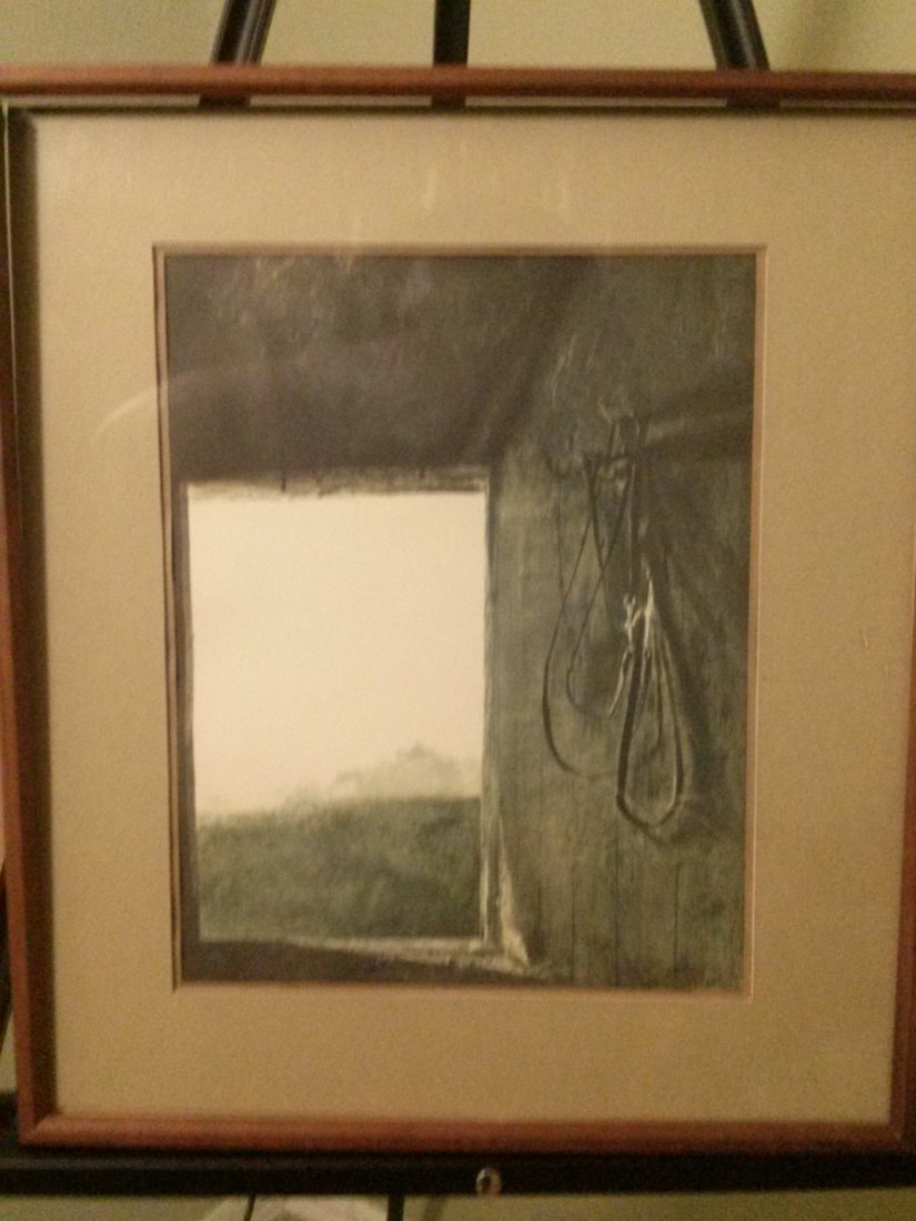 """Andrew Wyeth """"Burning Off"""" 1961 Lithograph print"""