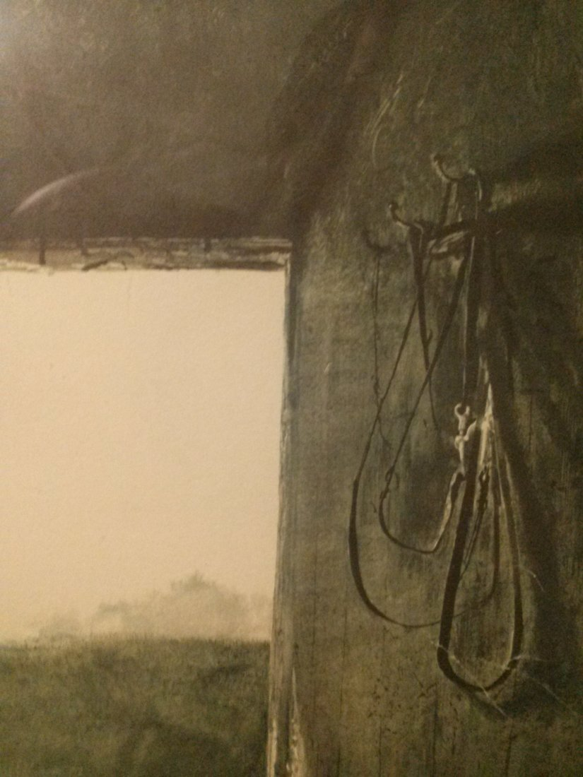 """Andrew Wyeth """"Burning Off"""" 1961 Lithograph print - 2"""