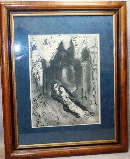Marc Chagall The Marriage by Original Etching w/ COA