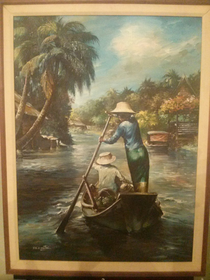 V. N. Montri, Rice Paddy, Oil painting