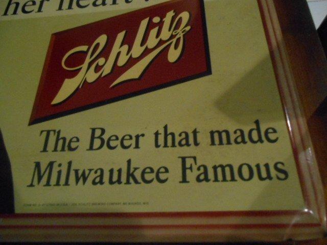 """Vintage Jos. Schlitz Beer Metal Sign """"Bless Her Heart"""" - 2"""
