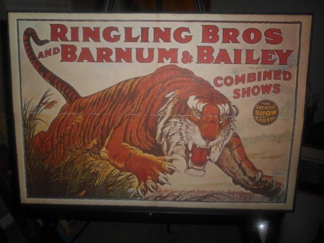 Ringling BrosandBarnum & Bailey Strobridge Litho Poster