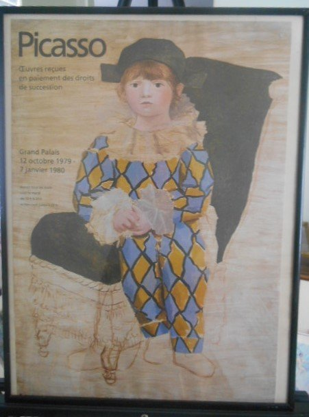 Picasso  'Paul In Harlequin'  Exhibit Poster