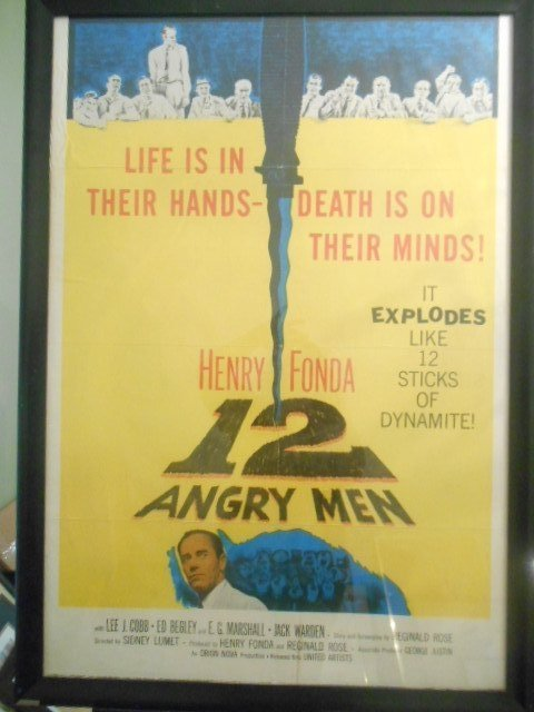 Original 12 Angry Men Vintage Movie Lithograph Poster