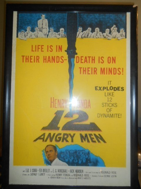 Original 12 Angry Men Vintage Movie Lithograph Poster - 2