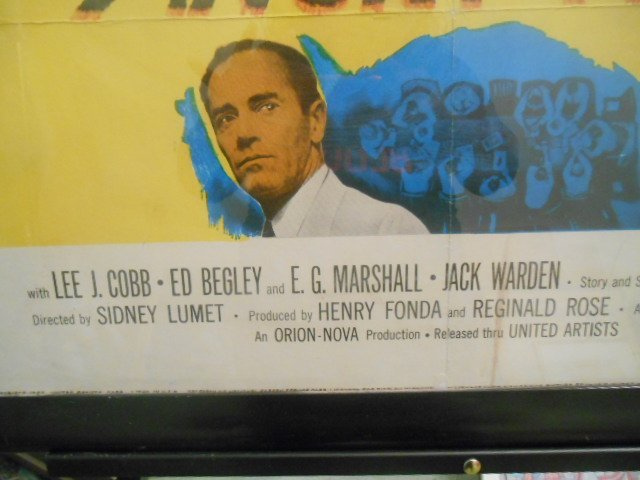 Original 12 Angry Men Vintage Movie Lithograph Poster - 4