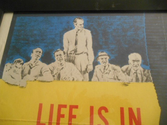 Original 12 Angry Men Vintage Movie Lithograph Poster - 7