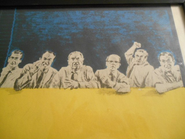 Original 12 Angry Men Vintage Movie Lithograph Poster - 8