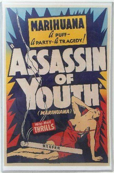 1930's Marihuana Assassin Of Youth Movie Card/ Poster