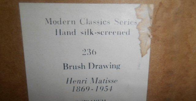 Henri Matisse Silk Screen Print - 3