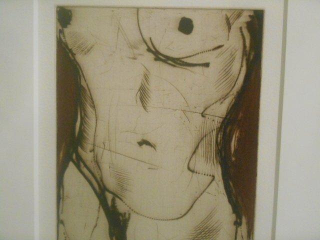 "Sergei Firer Original Etching Print  95/150"" Echo I"""
