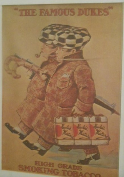 """""""The famous Dukes"""" Tobacco Advertisement Lithograph"""
