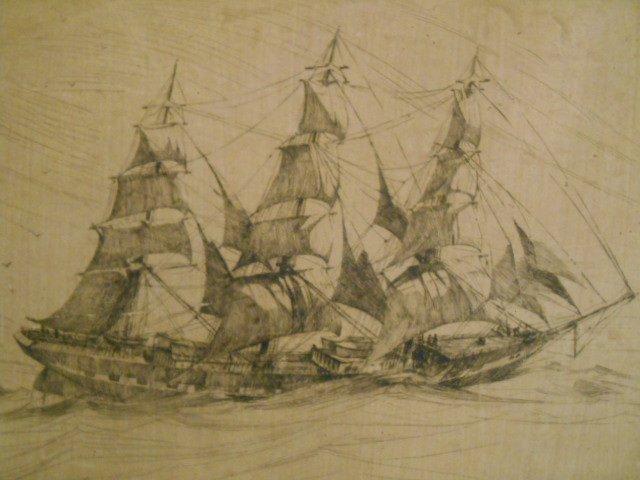 "Arthur Beaumont Original Signed ""Fourteen Knots"" # 5/50"