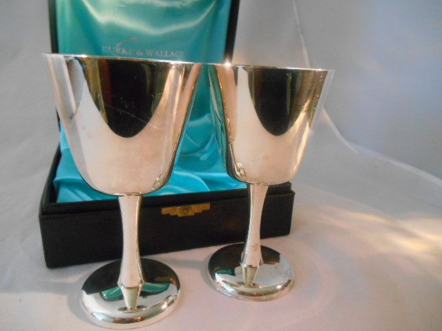 Burke & Wallace 264 Wine Chalice Gobblet Box Set - 3