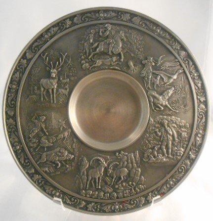 Zinn Becker Stuttgart Pewter Plate(95% gegossen)