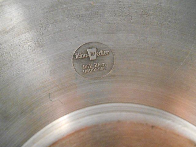 Zinn Becker Stuttgart Pewter Plate(95% gegossen) - 3