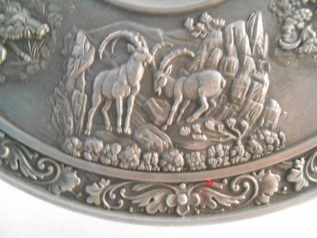 Zinn Becker Stuttgart Pewter Plate(95% gegossen) - 6