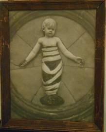 Bambino Della Robbia  Stone Lithograph