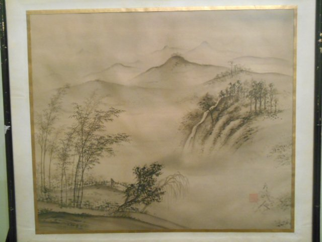 A Original signed Japanese Silk Painting - Jul 13, 2014