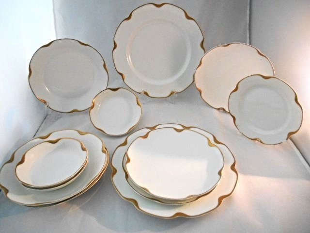 Haviland Limoges Silver Anniversary 12 Pieces,Included