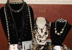 Lot of Costume Jewelry 72 pc. Weiss, 925, Ciner & more